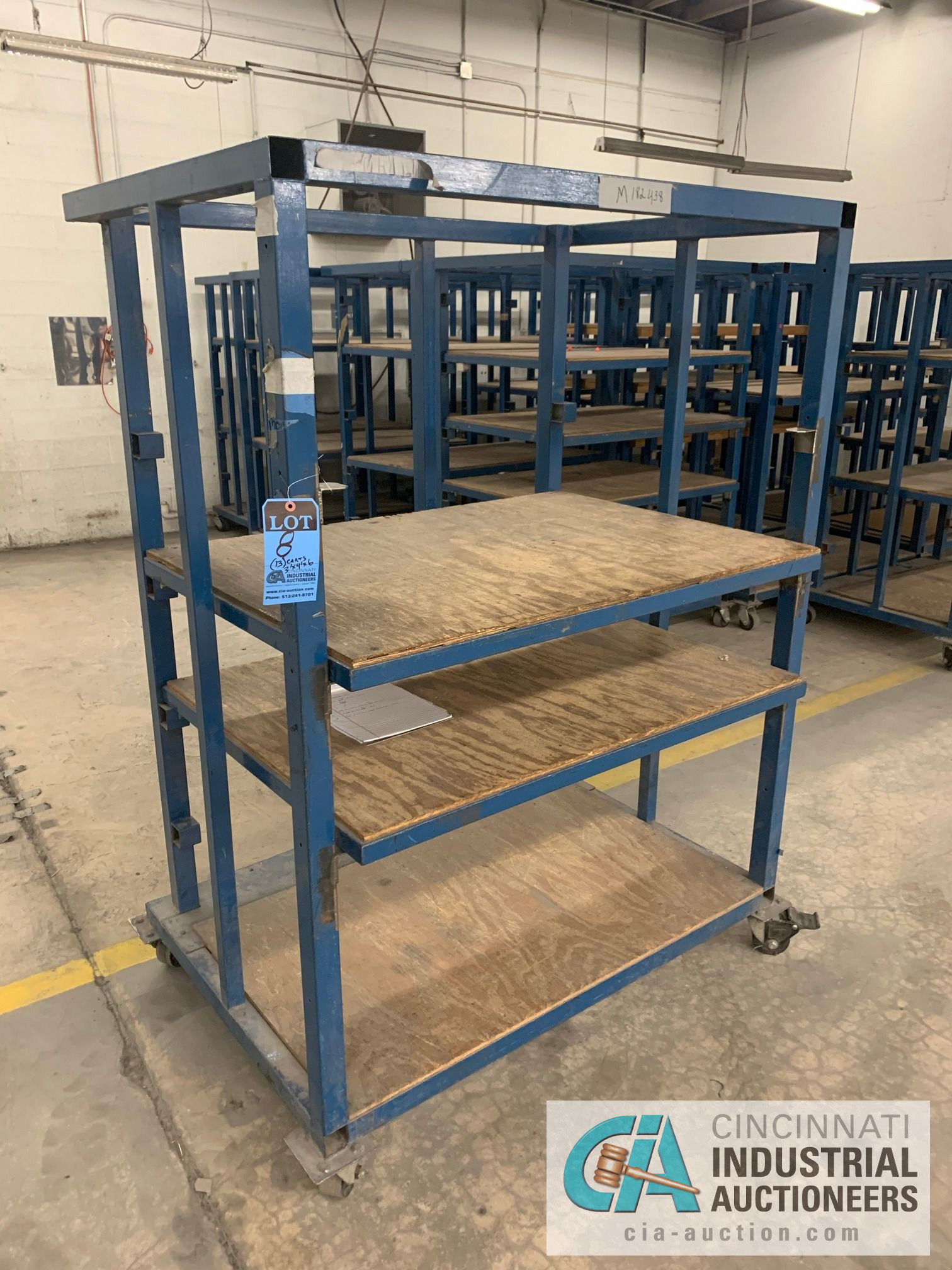 3' X 4' X 6' HIGH APPROX. MULTI-SHELF CARTS - Image 3 of 4