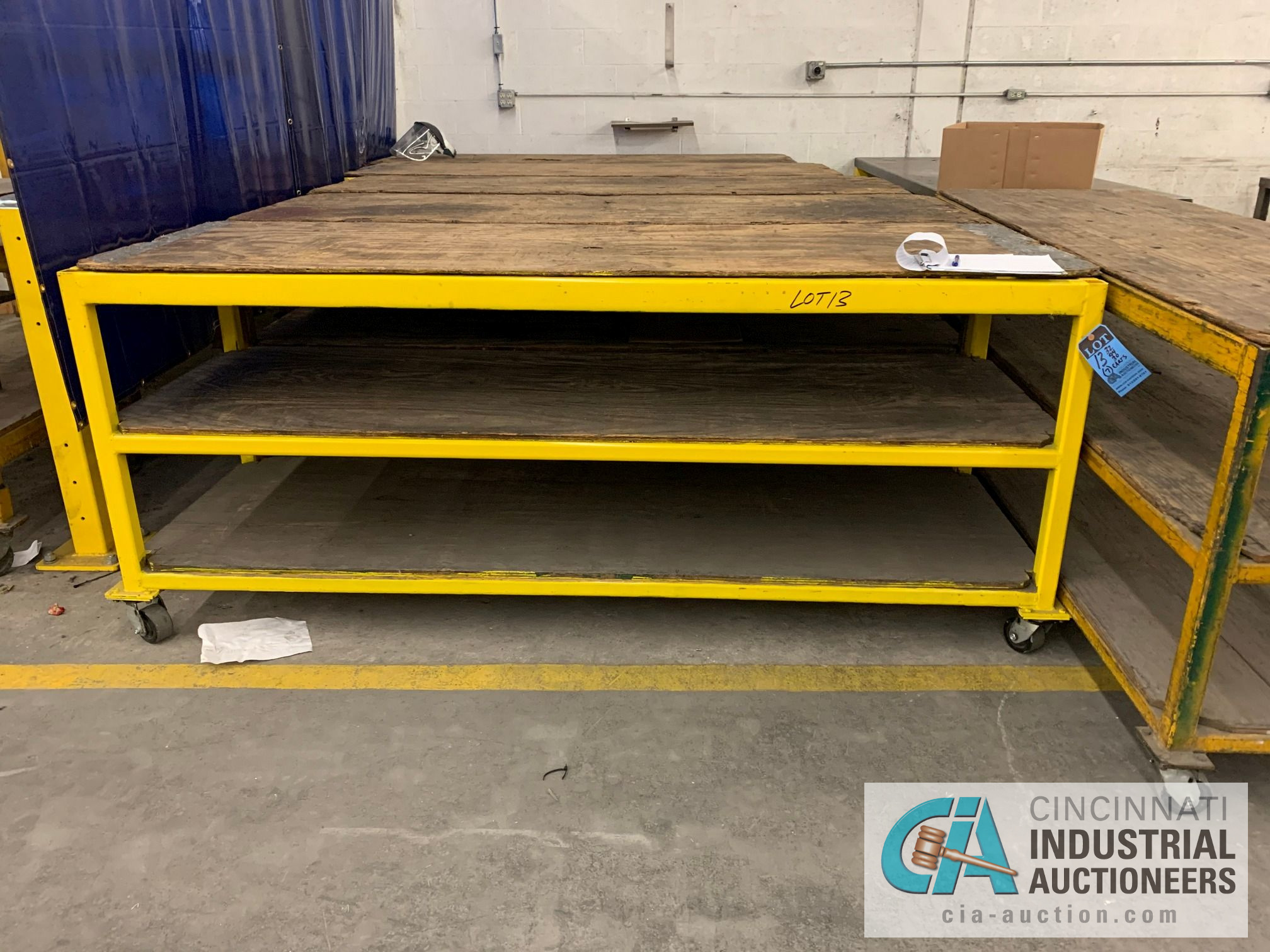 "32"" X 94"" X 40"" HIGH HEAVY STEEL FRAME CARTS - Image 3 of 4"