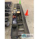 "32"" X 12' HYDRAULIC LIFT, (1) 12"" WIDE CHANNEL, 110 VOLT, (1) 7"" WIDE CHANNEL"