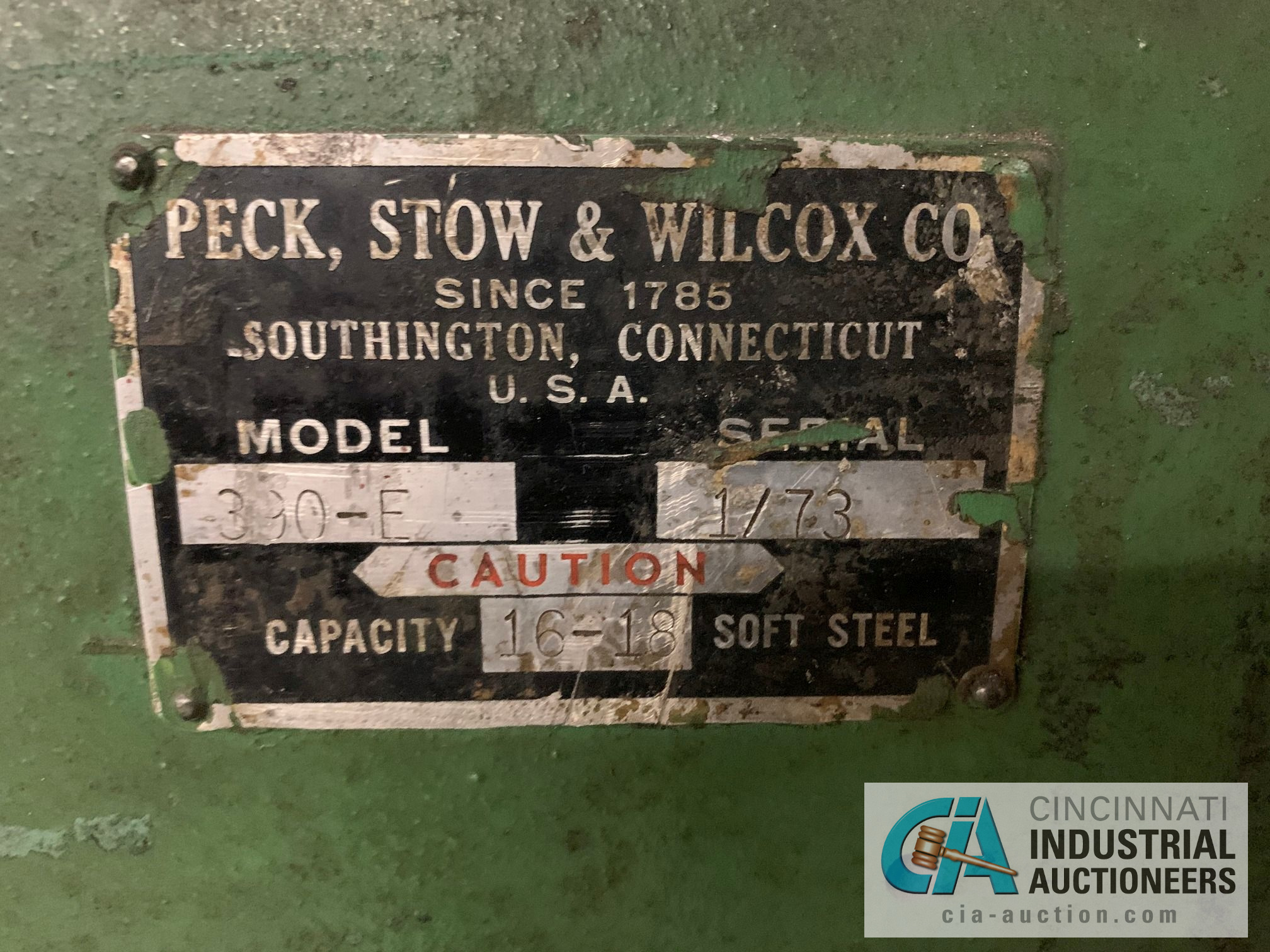 "36"" PECK, STOW AND WILCOX MODEL 390E HAND SLIP ROLL; S/N 1/73, CAPACITY 16-18 GA. - Image 2 of 5"