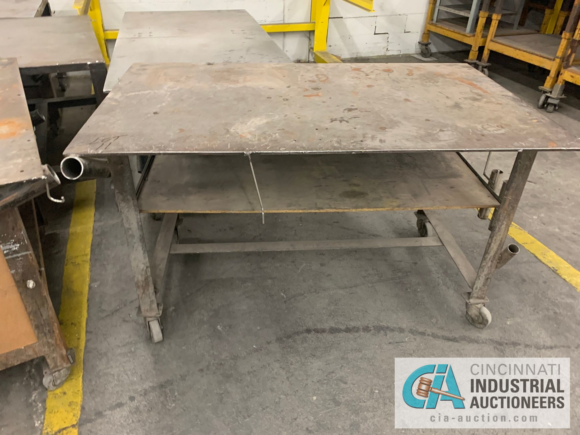 VARIOUS HEAVY DUTY CARTS, SOME SET-UP TO BE HEAVY WELD TABLES - Image 4 of 5