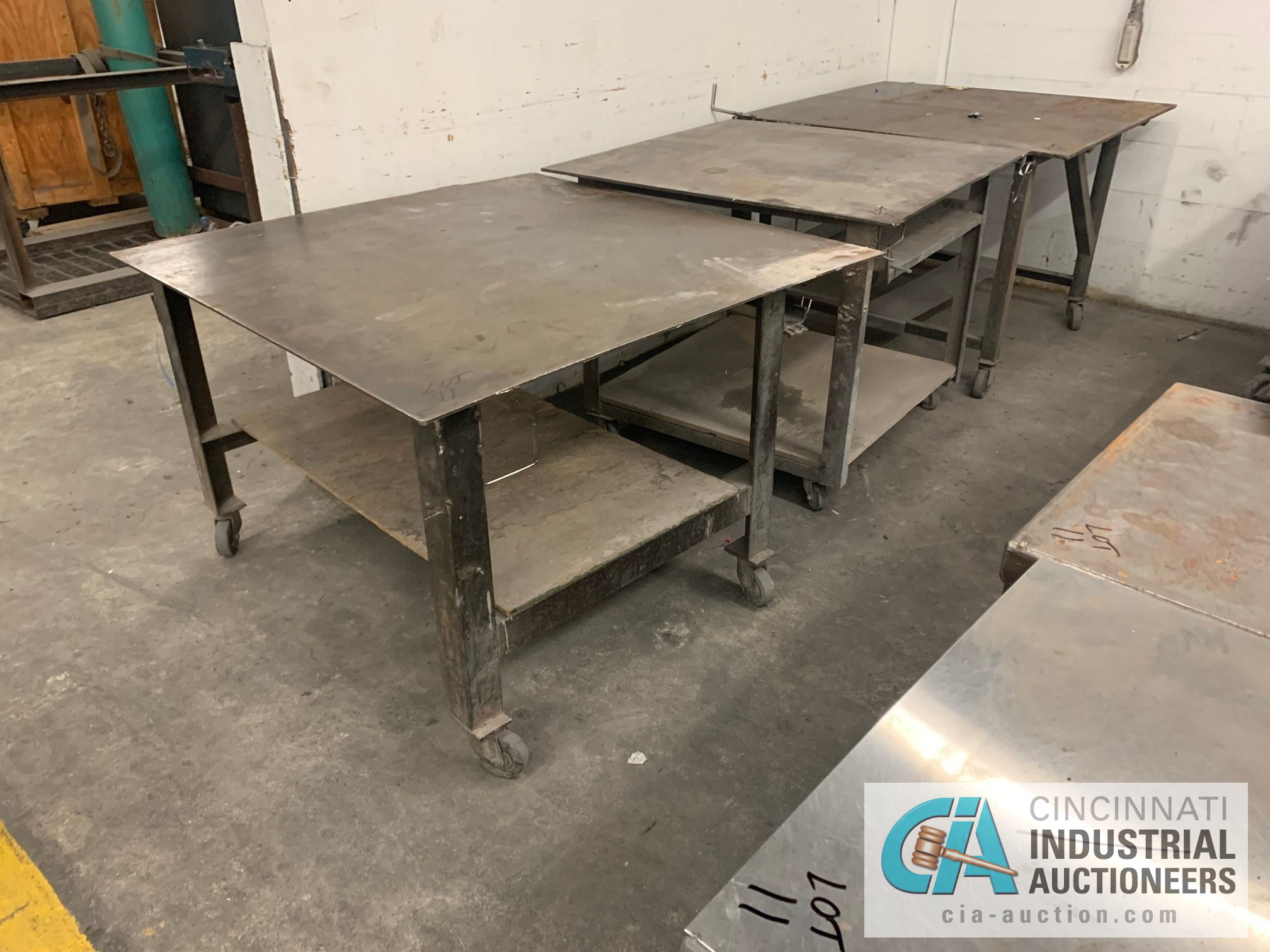 VARIOUS HEAVY DUTY CARTS, SOME SET-UP TO BE HEAVY WELD TABLES - Image 2 of 5