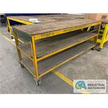 "32"" X 94"" X 40"" HIGH HEAVY STEEL FRAME CARTS"