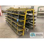 (LOT) LARGE QUANTITY PRESS BRAKE DIES ON A-FRAME RACK, APPROX. (8) 8' AND OVER, APPROX. (20) 4'-6'