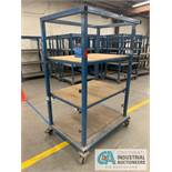 "34"" X 4' X 78"" HIGH APPROX. MULTI-SHELF CARTS"