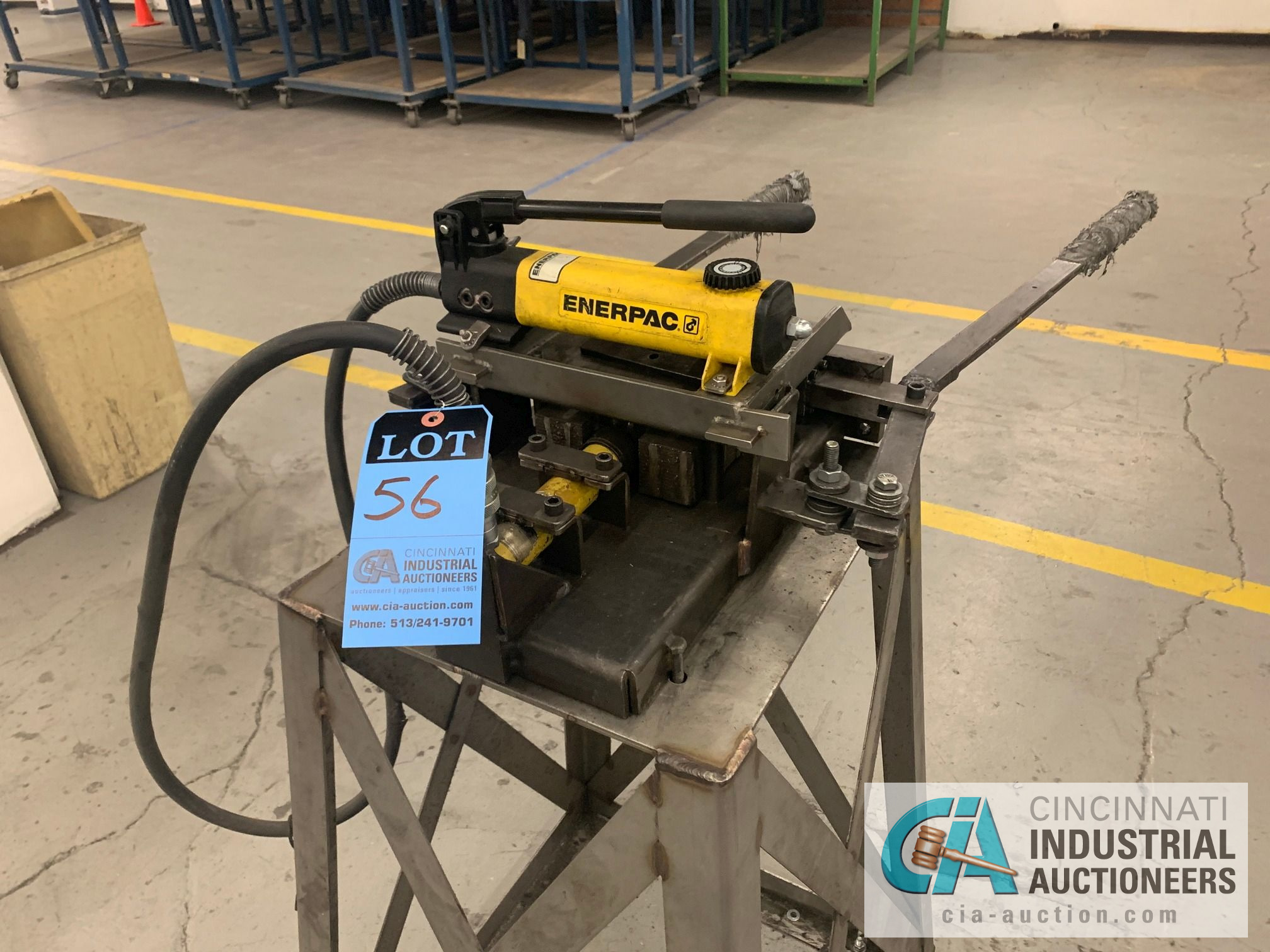CUSTOM BUILT FORMING MACHINE AND ENERPAC HAND PUNCH