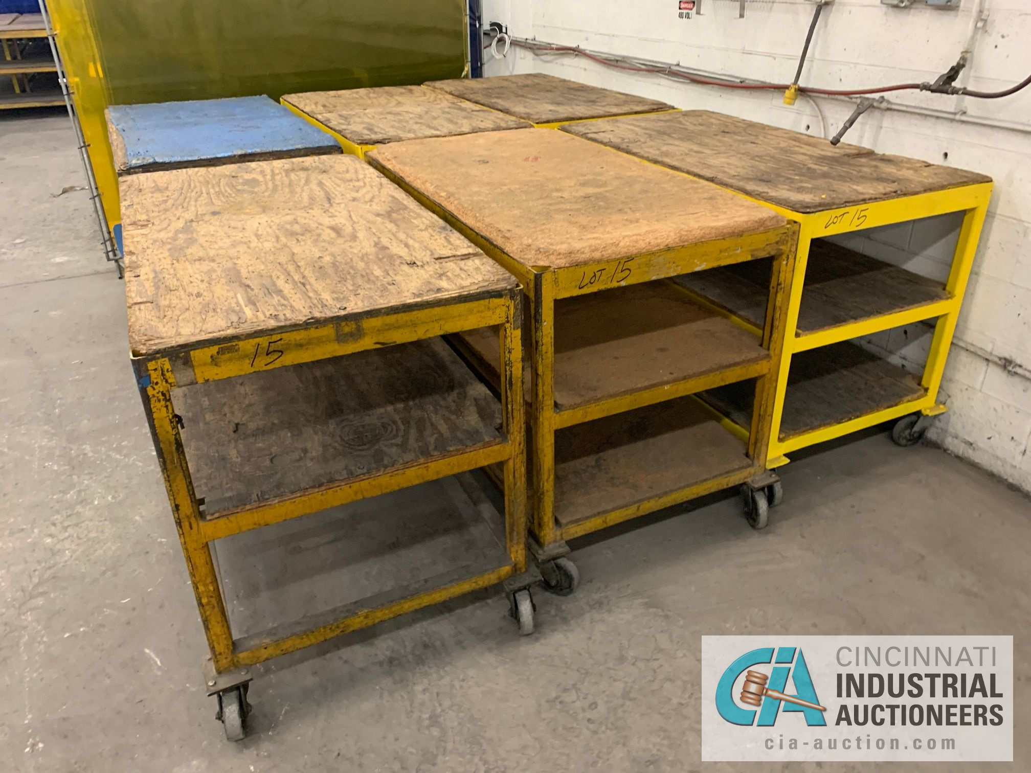 """32"""" X 60"""" X 40"""" HEAVY STEEL FRAME CARTS - Image 4 of 4"""