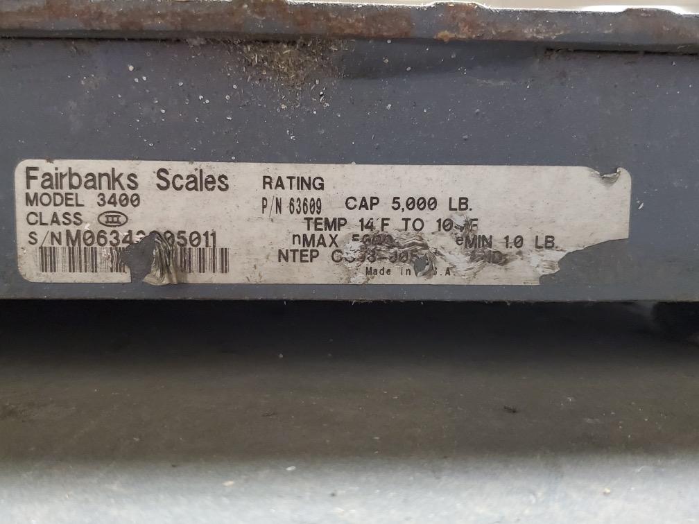 5,000 LB. FAIRBANKS DIGITAL PLATFORM SCALE - Image 4 of 4