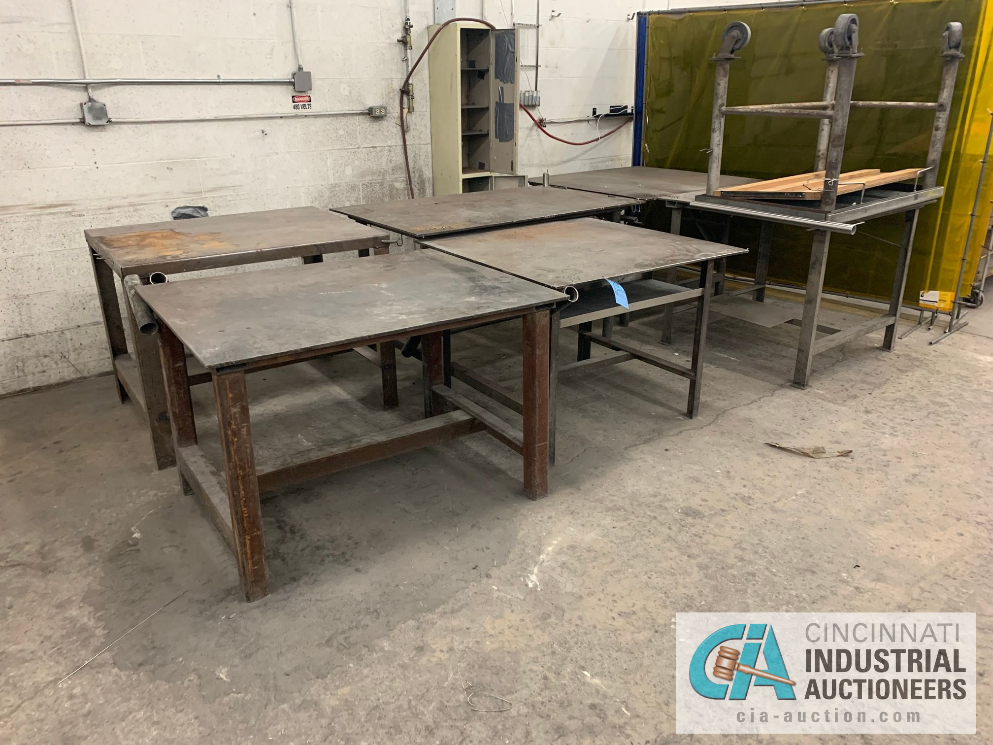 VARIOUS HEAVY WELD TABLES