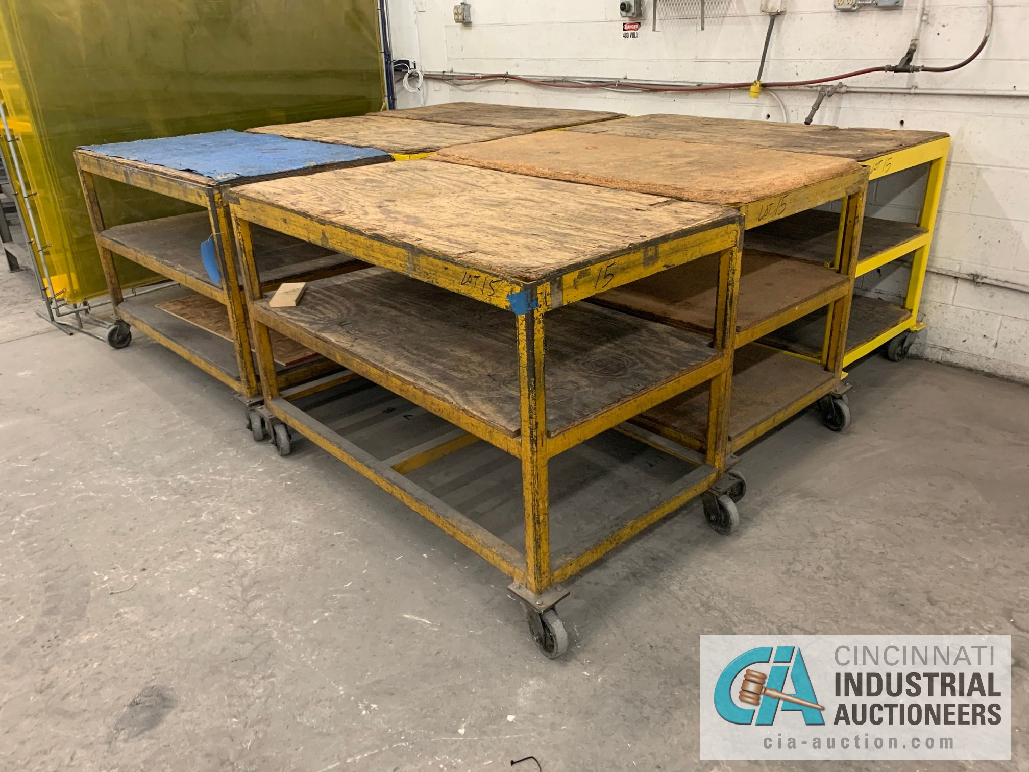 """32"""" X 60"""" X 40"""" HEAVY STEEL FRAME CARTS - Image 3 of 4"""