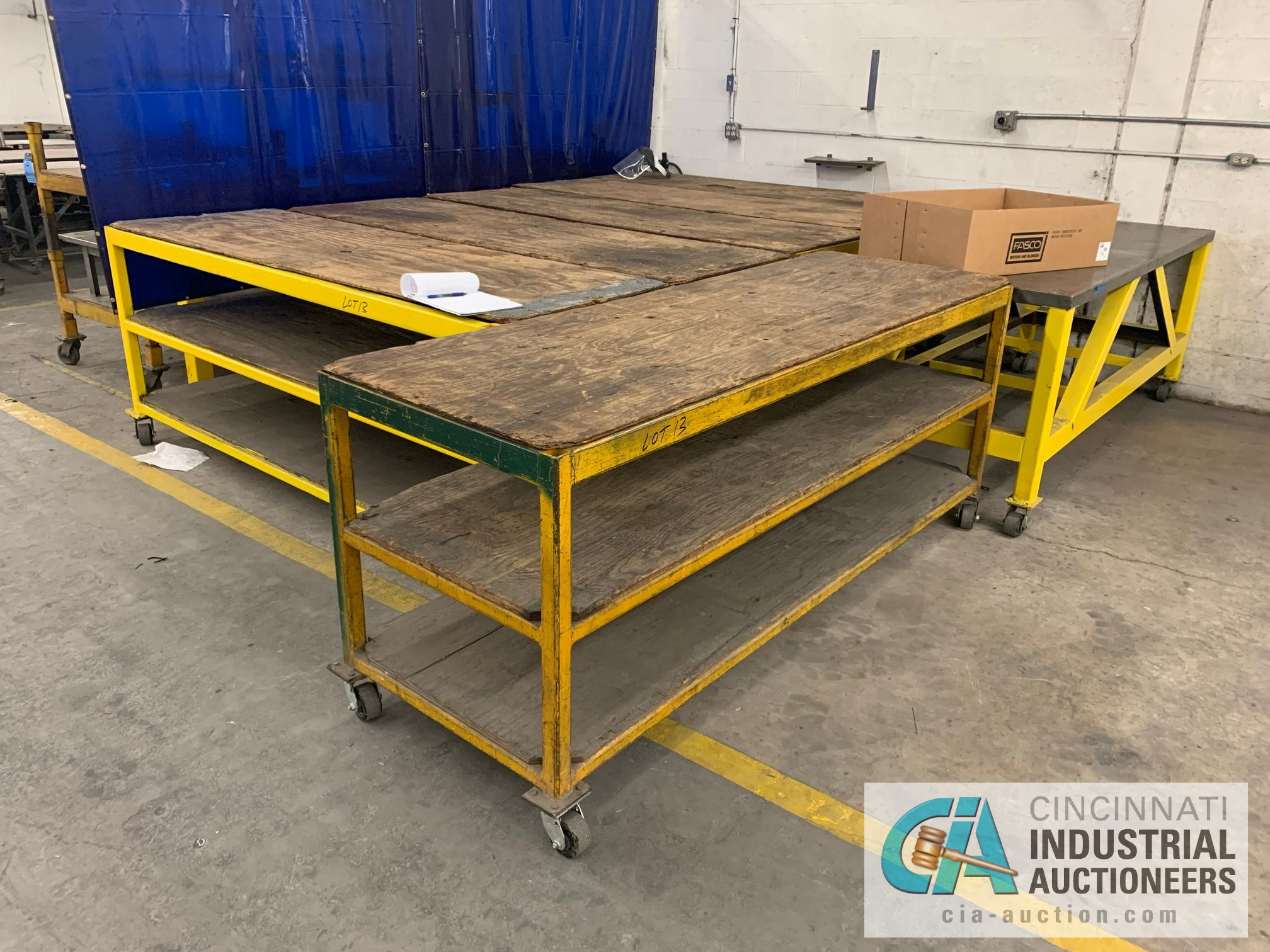 "32"" X 94"" X 40"" HIGH HEAVY STEEL FRAME CARTS - Image 2 of 4"