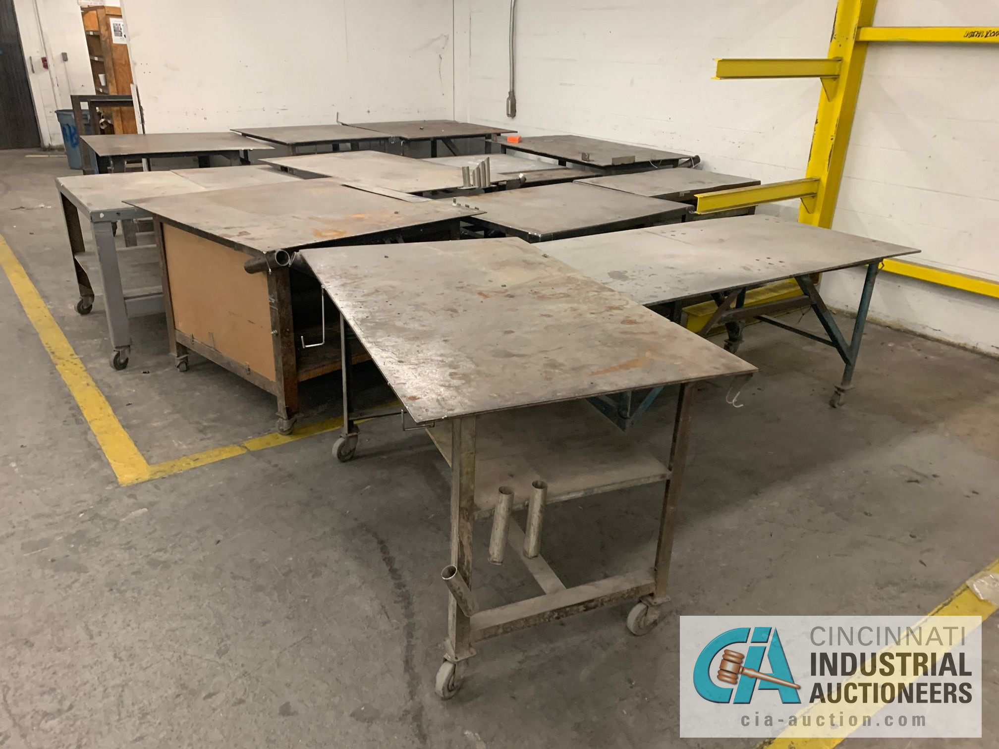 VARIOUS HEAVY DUTY CARTS, SOME SET-UP TO BE HEAVY WELD TABLES - Image 5 of 5