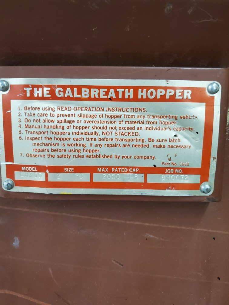 2-YARD GALBREATH DUMP HOPPER - Image 2 of 2