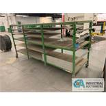 "38"" X 126"" X 62"" HIGH MULTI-SHELF CART"