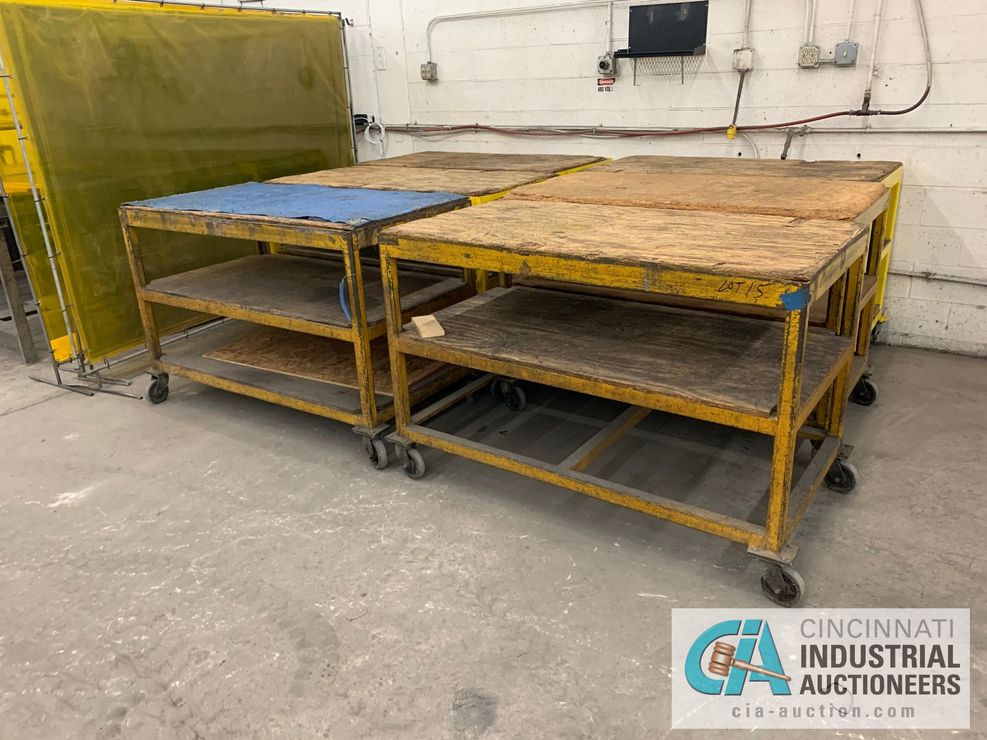 """32"""" X 60"""" X 40"""" HEAVY STEEL FRAME CARTS - Image 2 of 4"""
