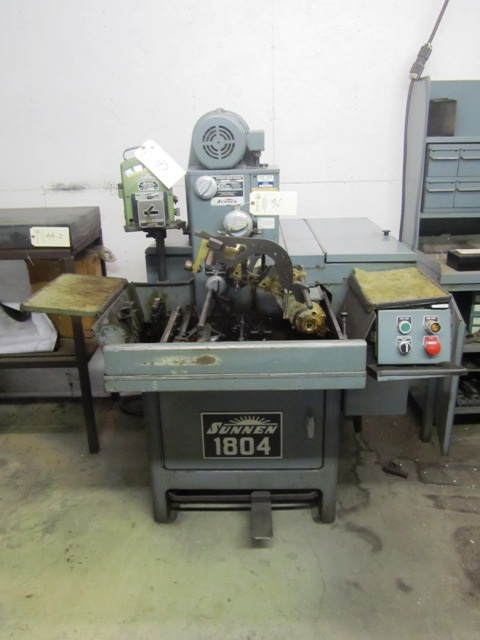 Lot 96 - Sunnen Model MBC1804 Horizontal Hone with Push Button Controls, sn:86239 (hole gauge to be sold