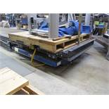 4' x 4' 3,000lb Capacity Scissor Lift Table with Roller Conveyor Top, Push Button Control
