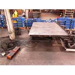 American Lift 4'-1/2'' x 6'-1/2'' 2500lb Capacity Hydraulic Scissor Lift Table with Foot Pedal