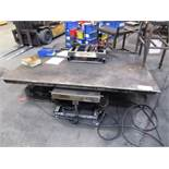 American Lift 4'-1/2'' x 6'-1/2'' 2500lb Capacity Scissor Lift Table with Foot Pedal Control