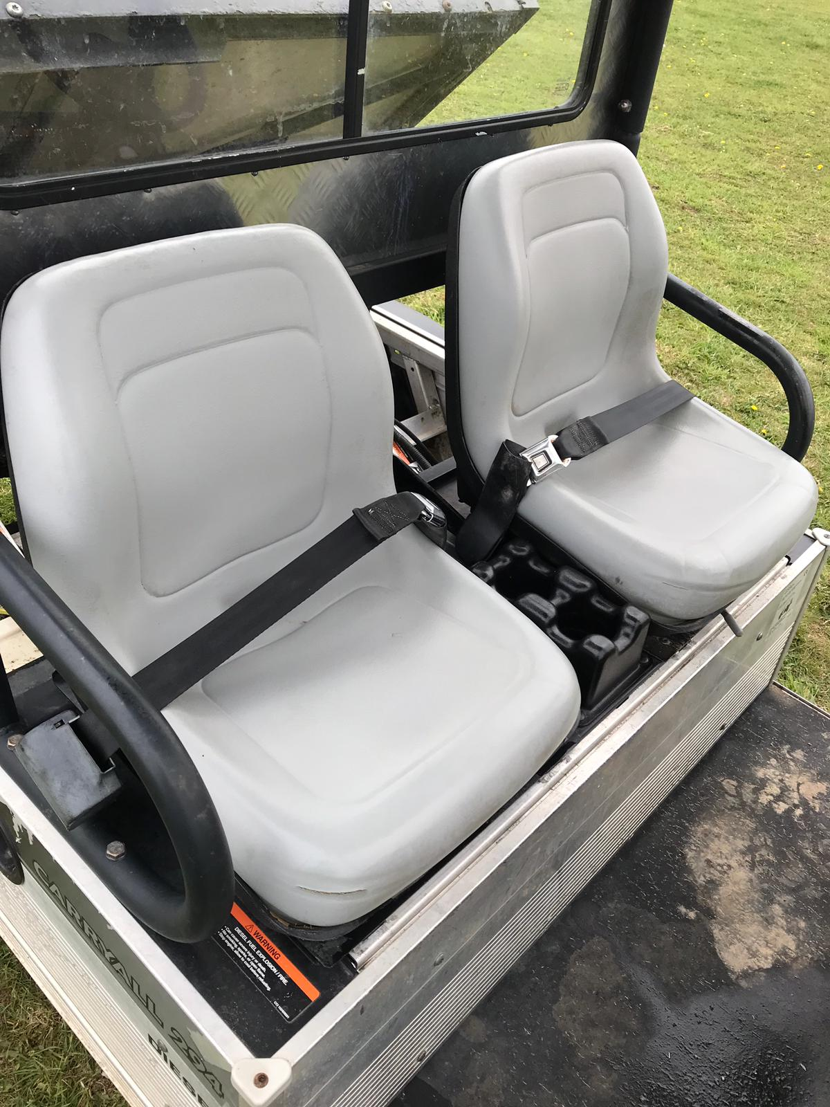 Lot 55 - CARRYALL CLUB CAR 294 DIESEL 4X4 INTELLITRAK CLUB CART, ELECTRIC TIP *PLUS VAT*