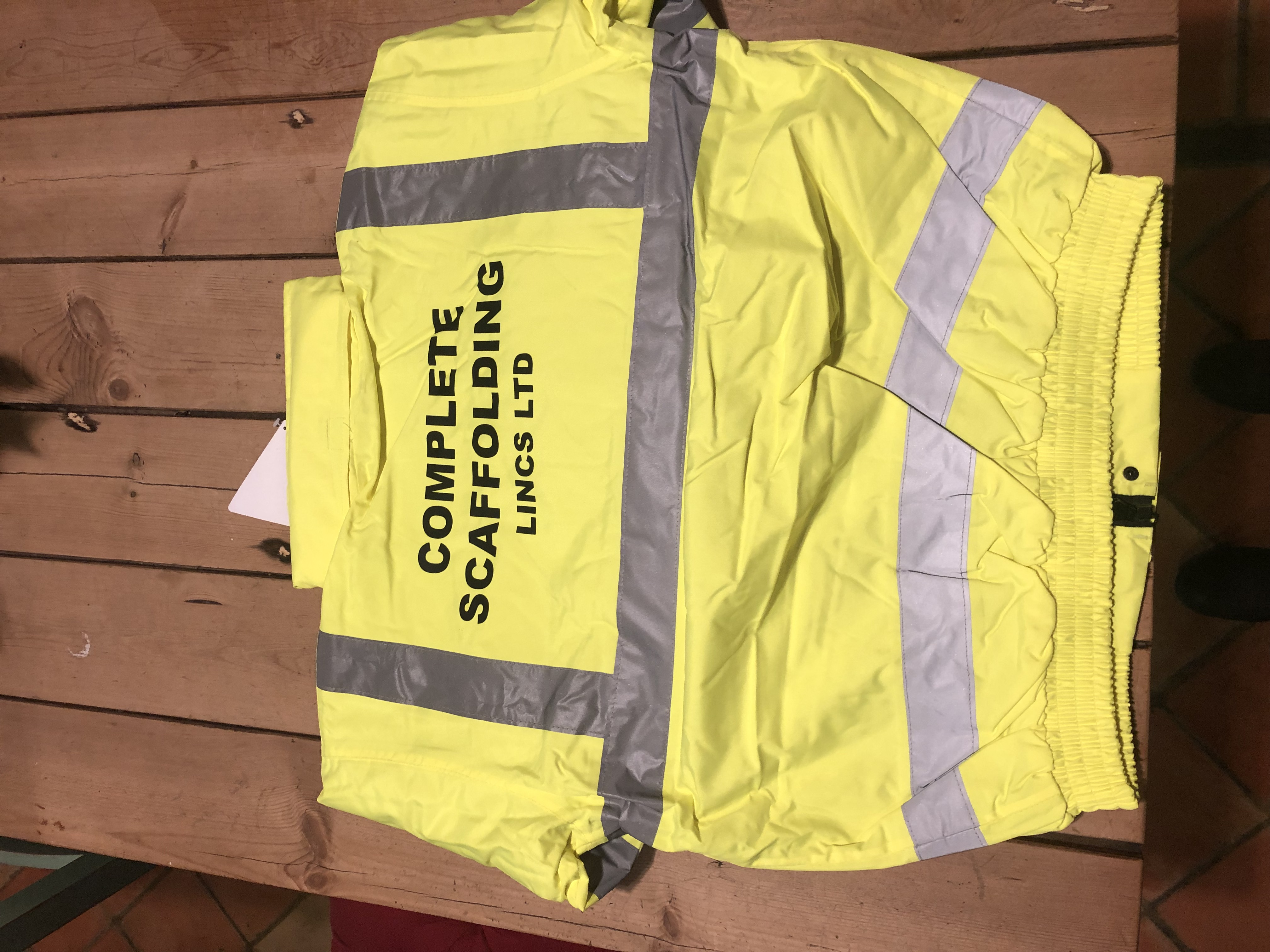 Lot 34 - HI VIZ BOMBER JACKET UNISEX BRAND NEW SIZE XL