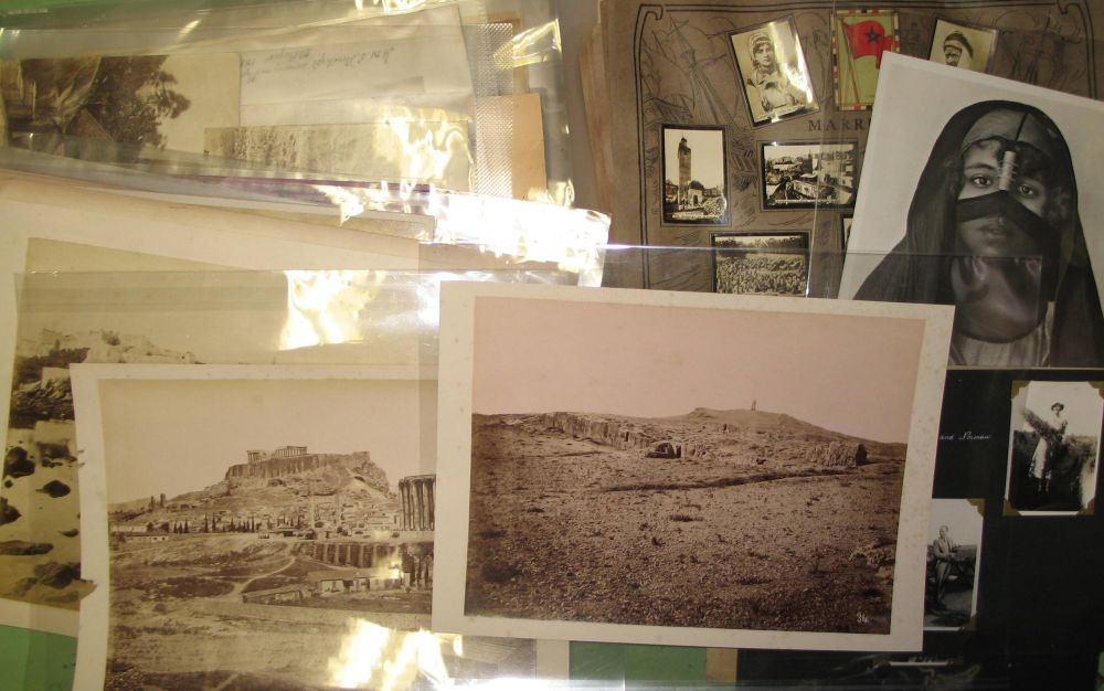 Lot 9 - PHOTOGRAPHY: Box of assorted travel photographs from around the world, including Africa, Europe,