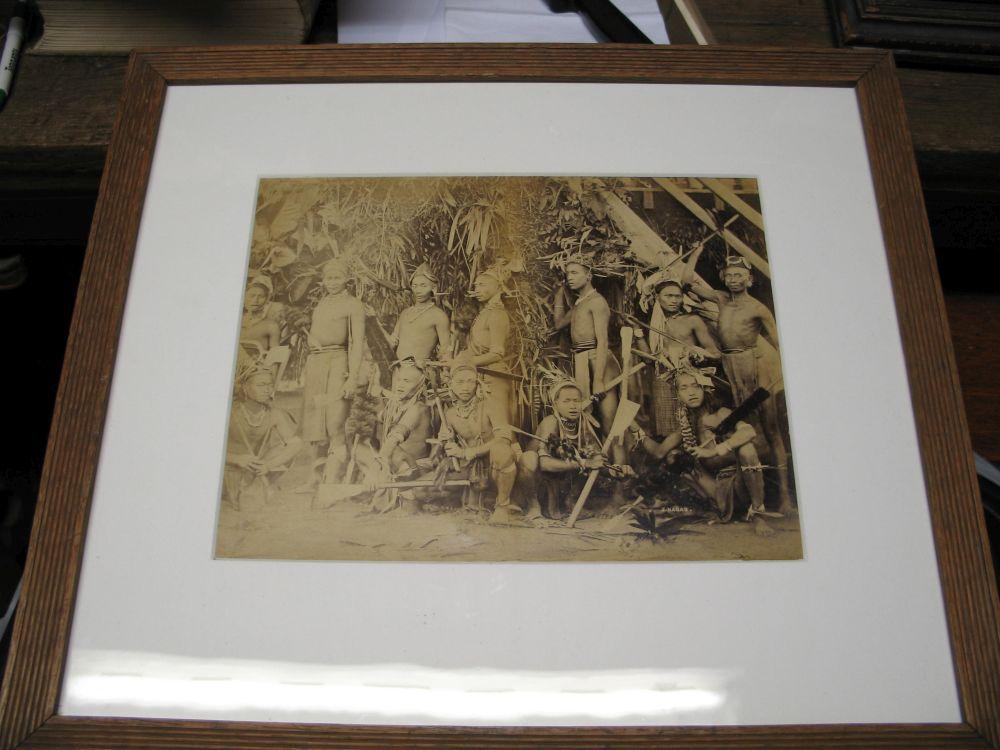 Lot 53 - PHOTOGRAPHS: BURMA / TRIBAL: Pair of large late 19th century albumen tribal photographs of Naga