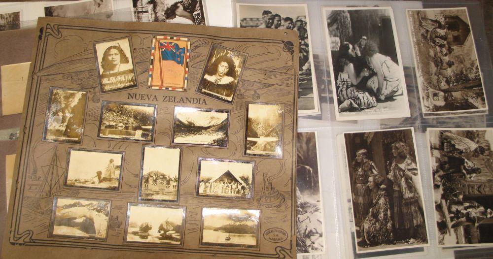 Lot 55 - MAORI / ABORIGINES / NEW ZEALAND: folder containing 29 real photo postcards of Maoris, 4 albumen
