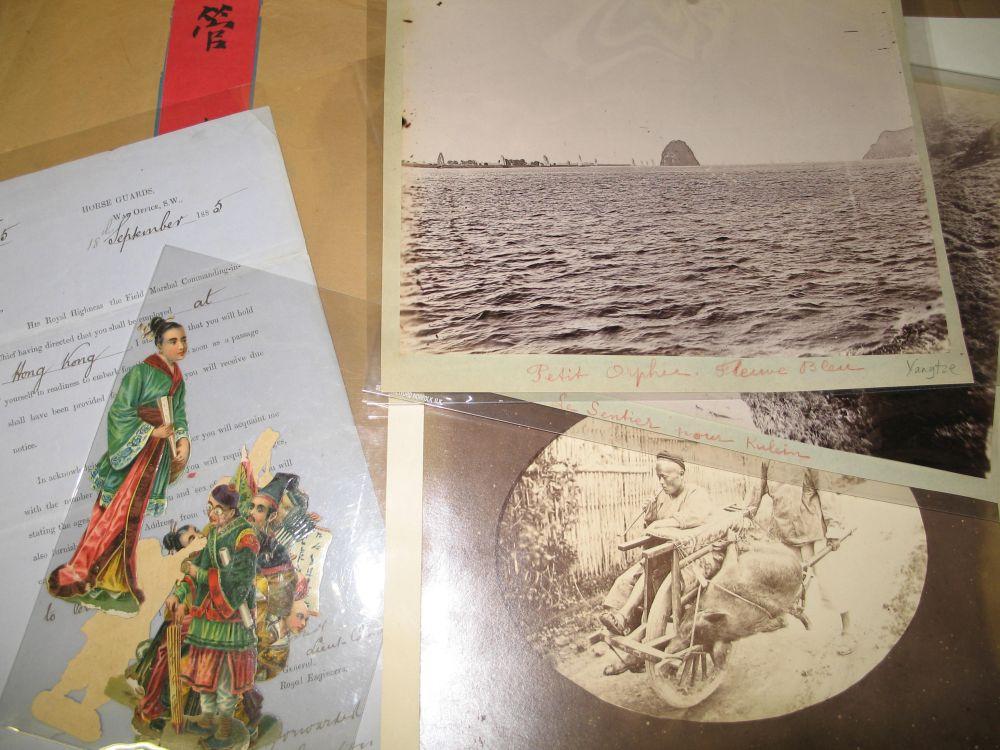 Lot 40 - HONG KONG & CHINA: folder of 17 albumen and silver print photographs. 19th & early 20th century, and