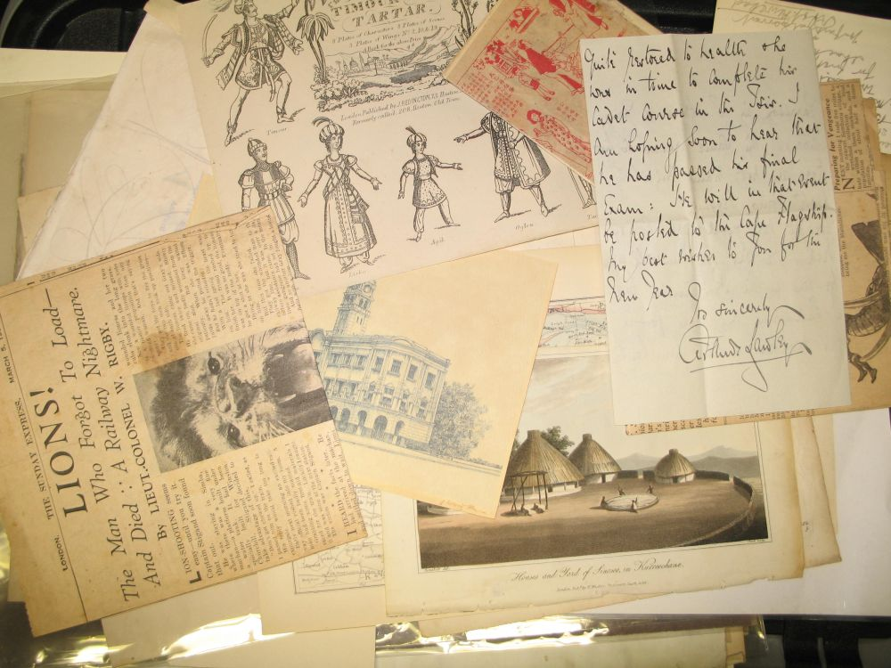 Lot 11 - EPHEMERA: Box of assorted ephemera, watercolours, posters, prints & maps. 19th & 20th century.