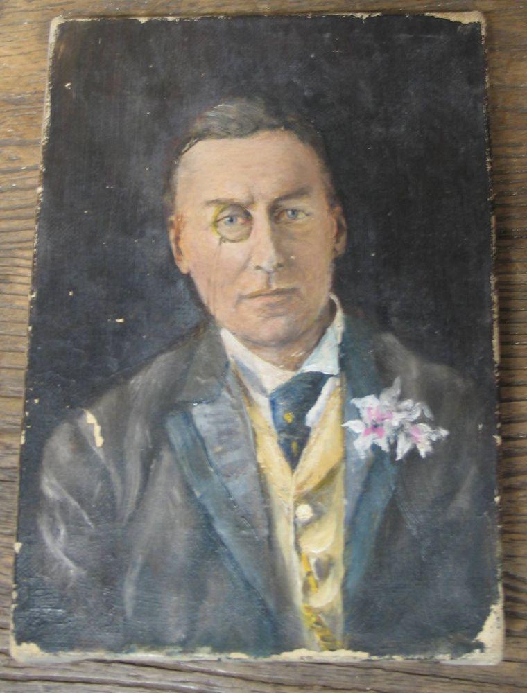 Lot 15 - OIL PAINTING / POLITICS: portrait of Rt. Hon. Joseph Chamberlain, M.P. [1836-1914], Secretary of