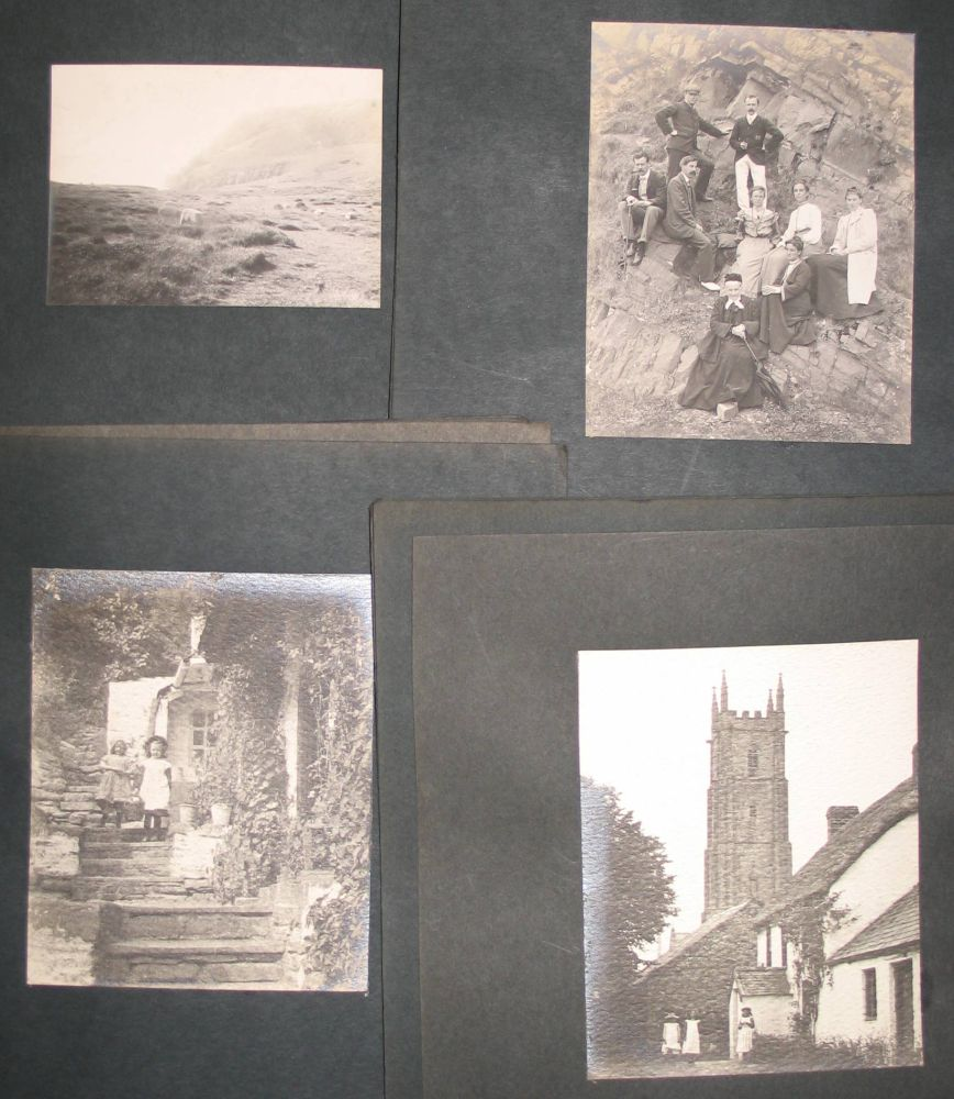 Lot 5 - PHOTOGRAPHY: Portfolio of 40 photographs of Cornwall c.1910 (green cloth covers)