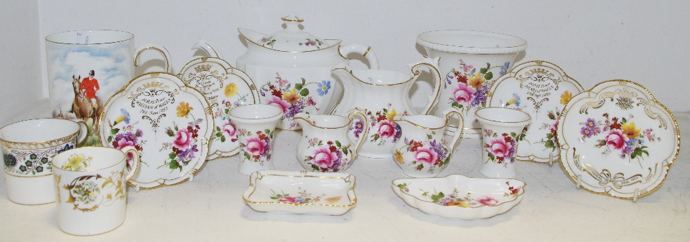 Lot 57 - Royal Crown Derby Posies tableware including teapot, milk jug, planter, bon bon dishes, etc,