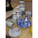 Nine pieces of Chinese and Japanese porcelain