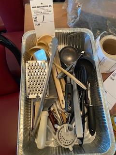 Box of varied Kitchen utensils