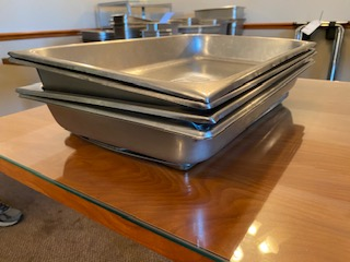"(4) 20x12x3"" deep stainless inserts"