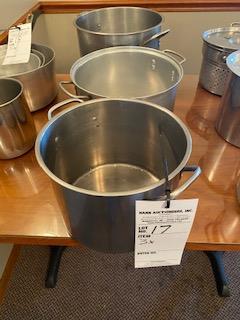 (3) varied stock pots