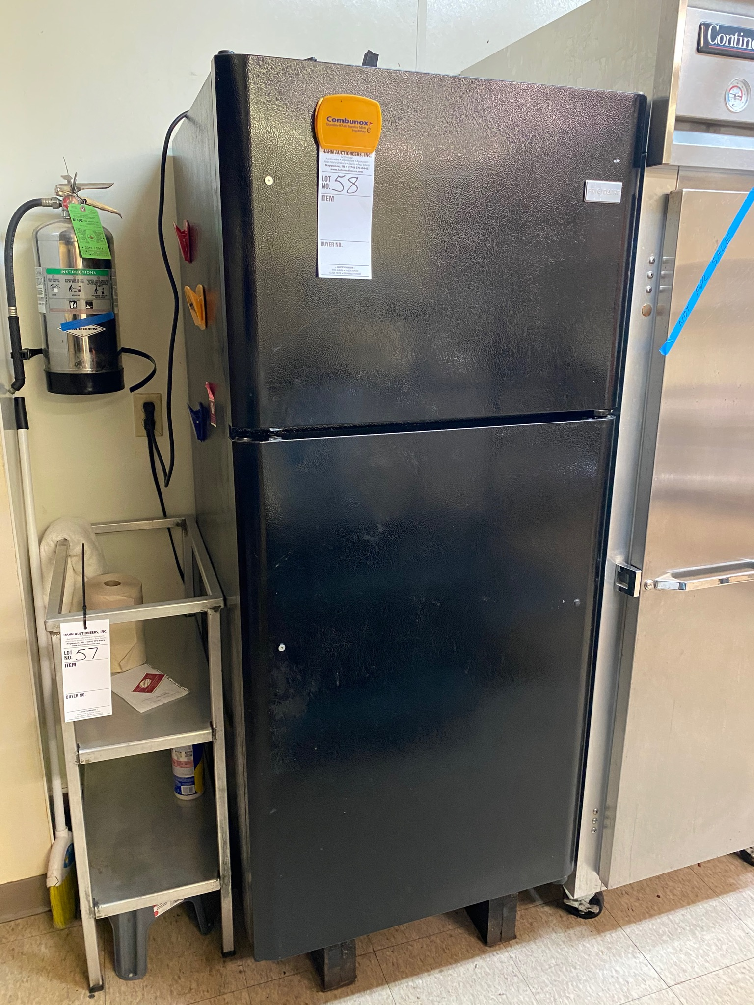 Frigidaire black textured 24.4 CF double dr. refrigerator freezer