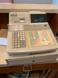 Casio Model TK1300 Cash Register with box below