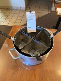 """8-1/2"""" deep kettle aluminum with 4 draining compartments"""
