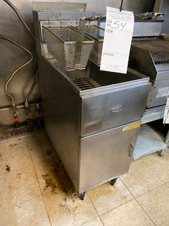 Dean double basket gas deep fat fryer