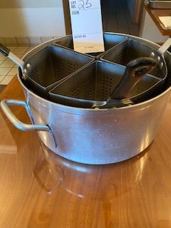 """8-1/2"""" deep kettle aluminum with 4 draining compartments - Image 2 of 2"""