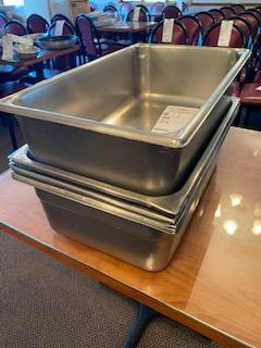 """(5) 12x20 stainless inserts up to 6"""" deep"""