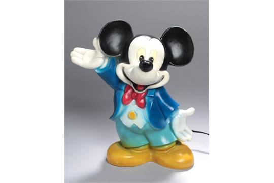 Mickey Mouse-Lampe, 80er Jahre, Heico Art. 63.571, vollplastische ...