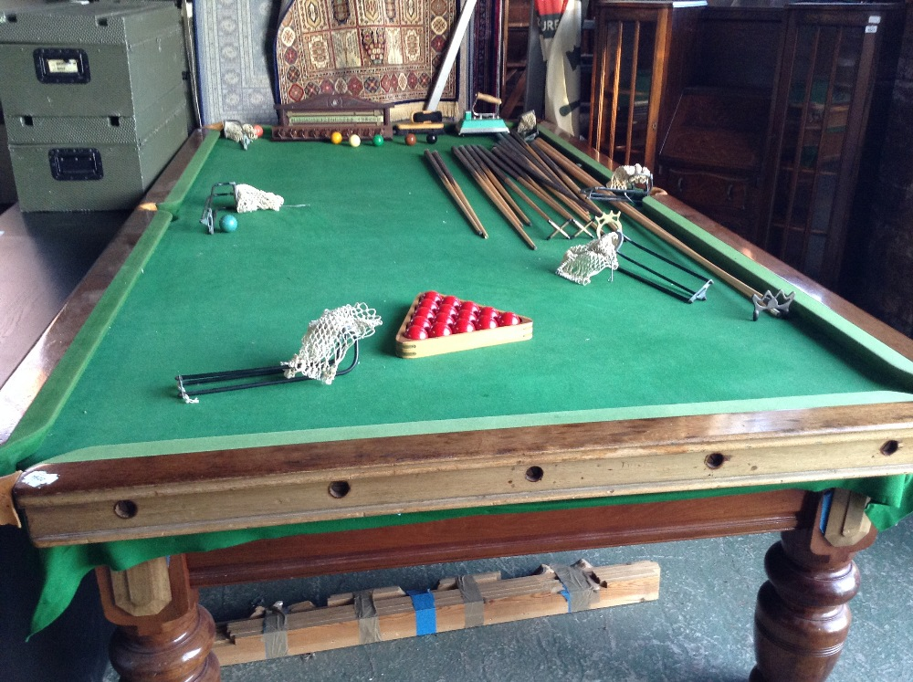 Snooker table 7 8 full size collection only delivery for 1 4 size snooker table