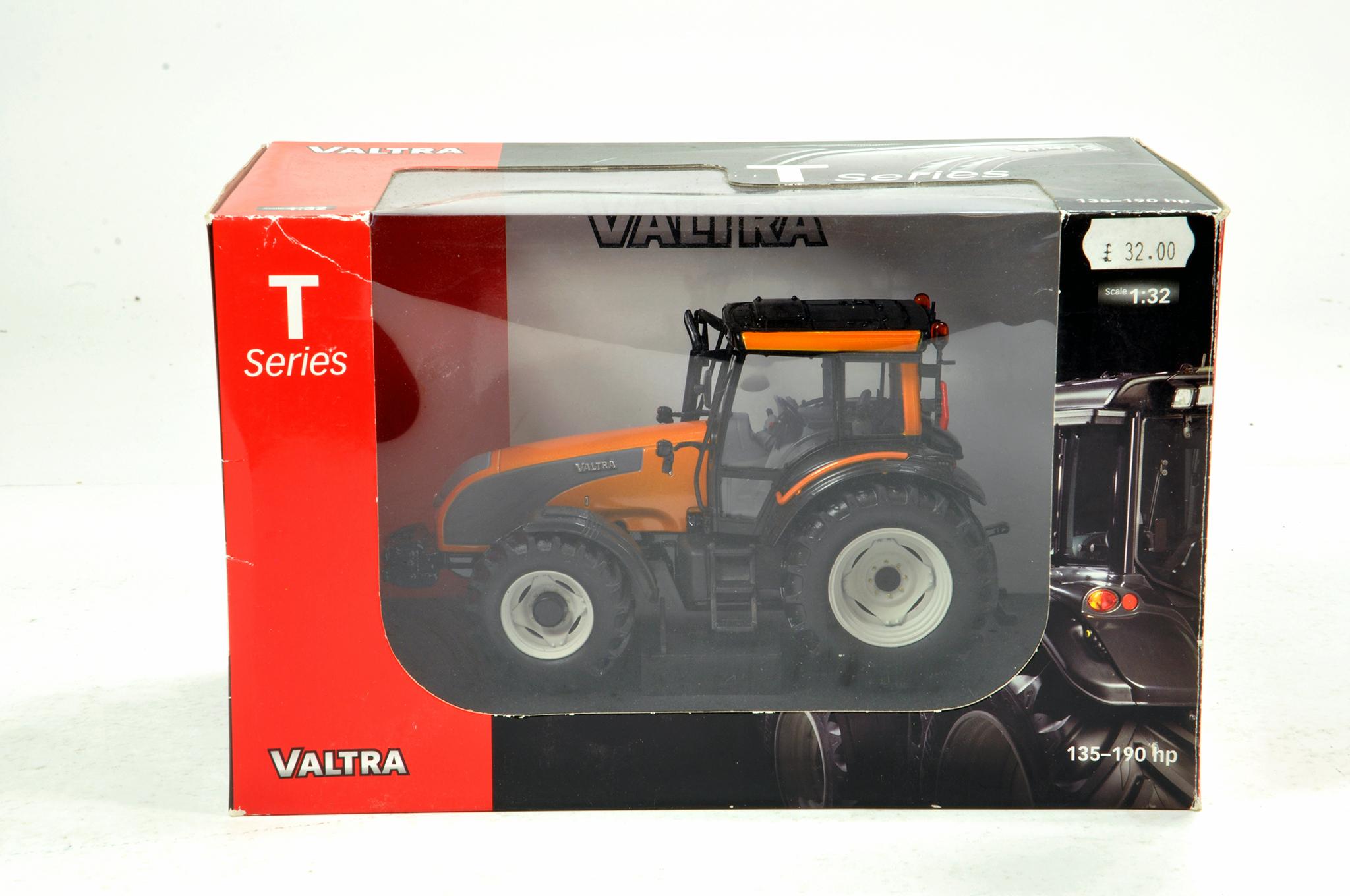 Lot 974 - Universal Hobbies 1/32 Valtra T Series Tractor in Orange. NM in Box.