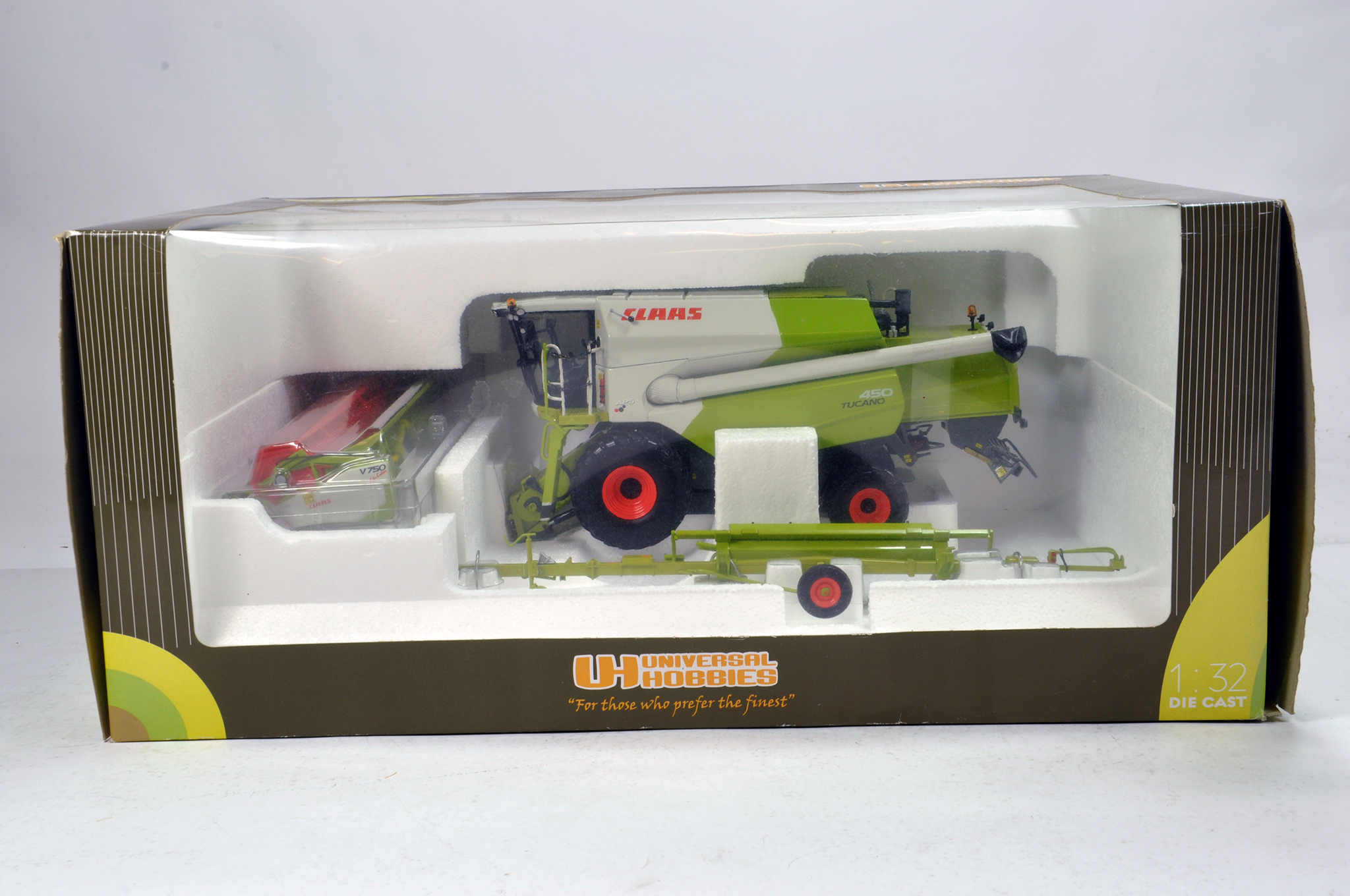 Lot 921 - Universal Hobbies 1/32 Farm Issue Comprising Claas Tucano 450 Combine. NM in Box.