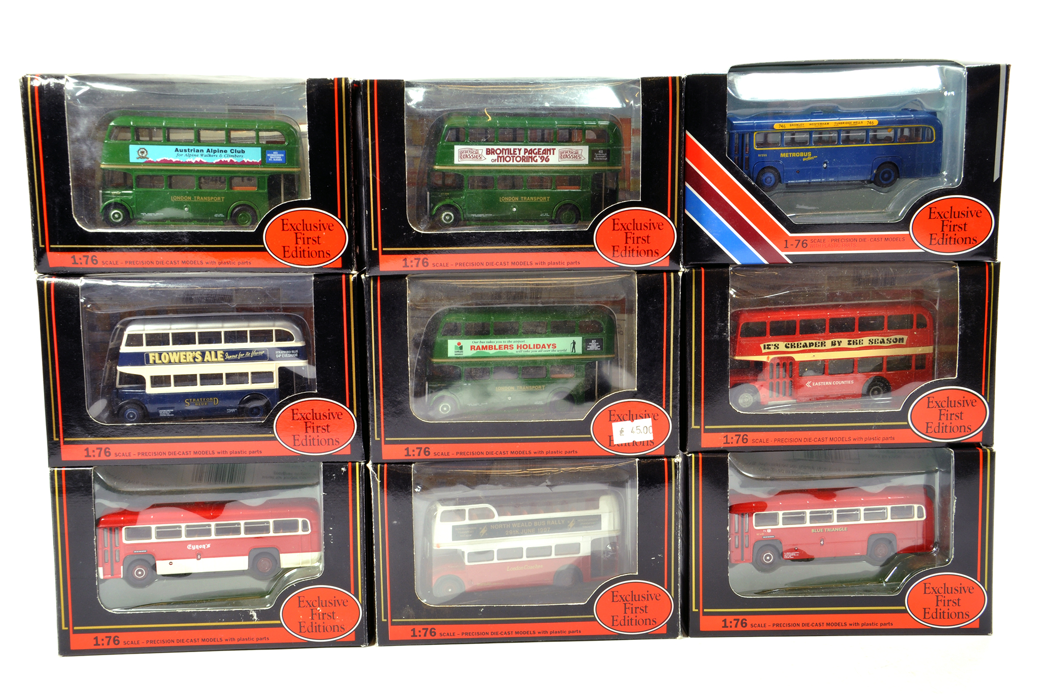 Lot 4 - EFE 1/76 diecast Bus group comprising various issues. Generally NM to M in Boxes. (9)