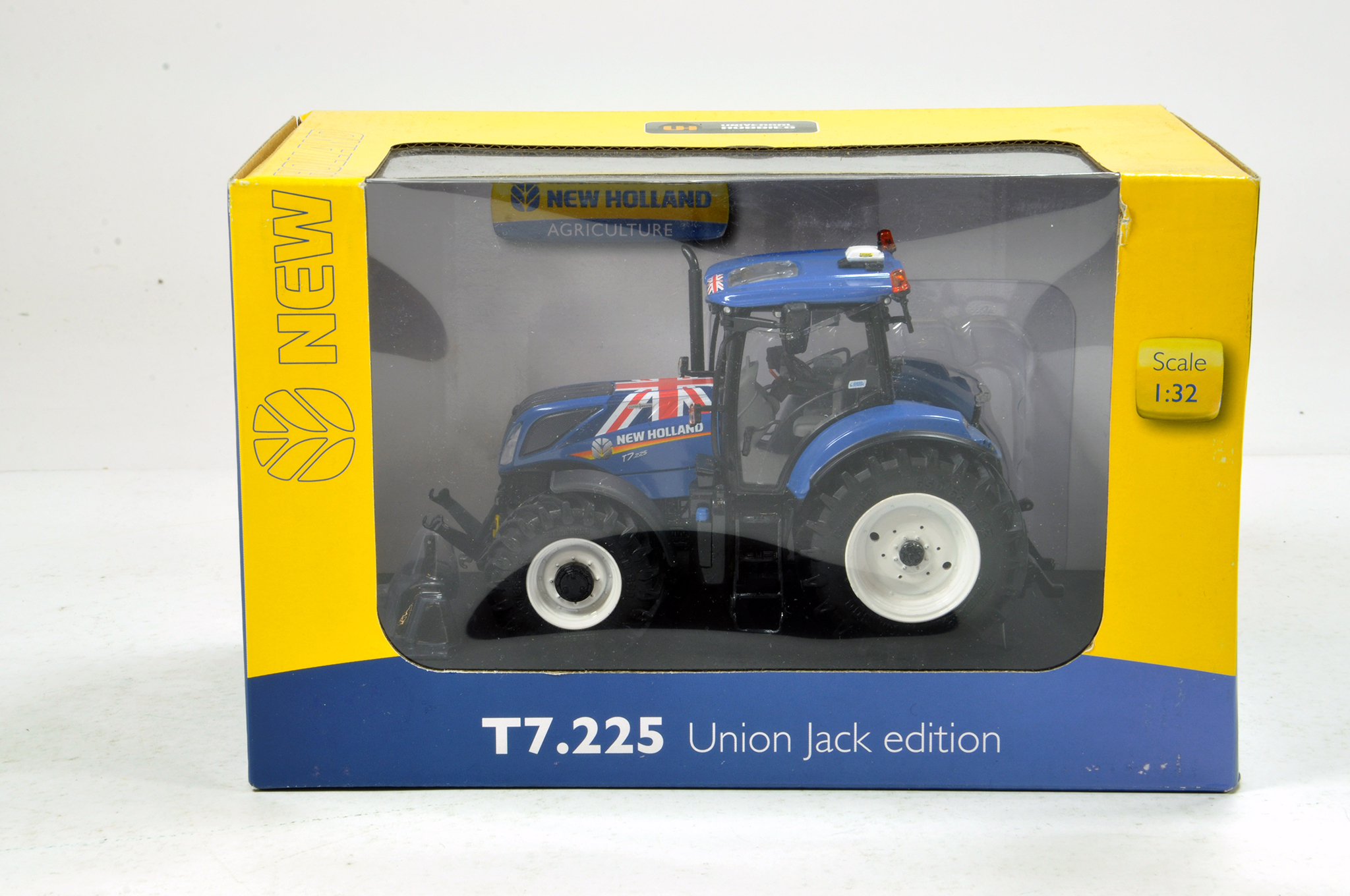 Lot 960 - Universal Hobbies 1/32 New Holland T7.225 Union Jack Tractor. NM in Box.