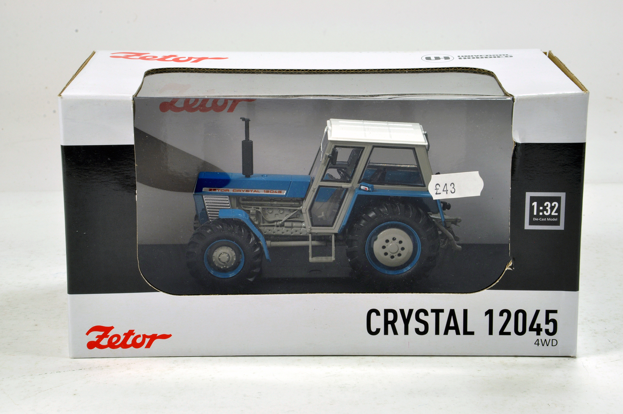 Lot 966 - Universal Hobbies 1/32 Zetor Crystal 12045 4WD Tractor in Blue. NM in Box.